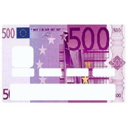 Sticker carte bancaire Billet 500 Euros