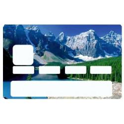 Sticker carte bancaire Montagne
