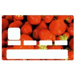 Sticker carte bancaire Fraise
