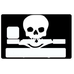 Sticker carte bancaire Tête de Mort