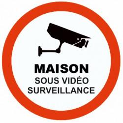 Autocollant Maison sous vidéo surveillance