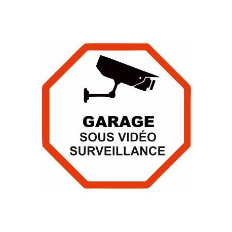 Sticker Garage sous vidéo surveillance