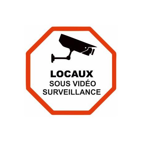 Autocollant Locaux sous vidéo surveillance