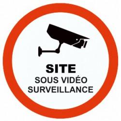 Sticker Site sous vidéo surveillance