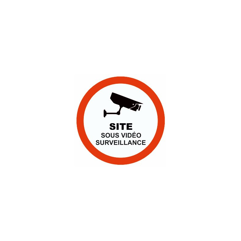 sticker site sous vid o surveillance etiquette autocollant. Black Bedroom Furniture Sets. Home Design Ideas