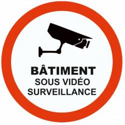 Sticker Batiment sous vidéo surveillance