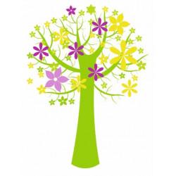 Sticker Arbre à fleurs
