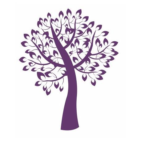 sticker arbre de vie violet de 5 cm 150 cm etiquette autocollant. Black Bedroom Furniture Sets. Home Design Ideas