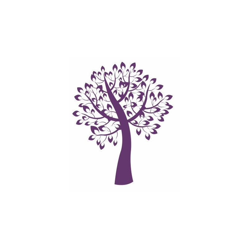 sticker arbre de vie violet de 5 cm 150 cm etiquette autocollant. Black Bedroom Furniture Sets. Home Design Ideas