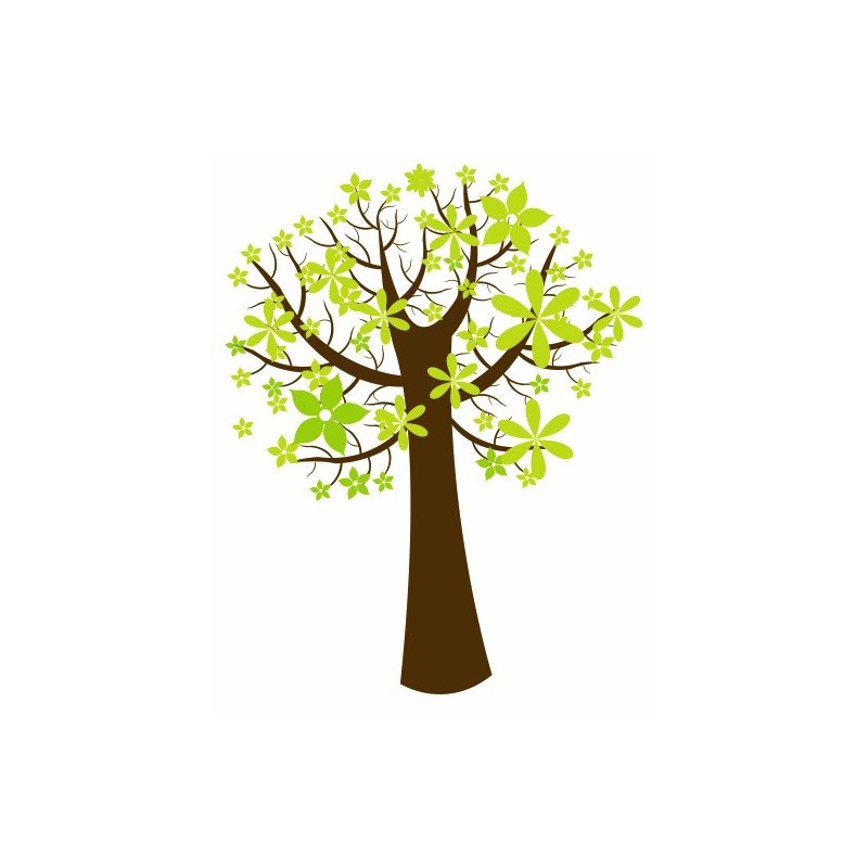 sticker mural arbre fleur univers arbre pour votre d coration etiquette autocollant. Black Bedroom Furniture Sets. Home Design Ideas