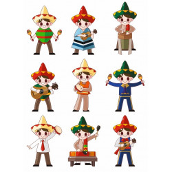 Sticker Mexicain danse