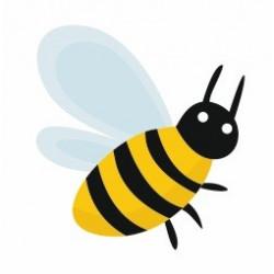 Sticker pâques abeille