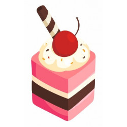 Sticker Gateau Buche
