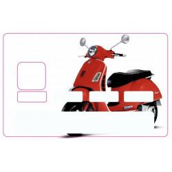 Sticker carte bancaire Vespa