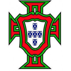 Sticker Portugal Coupe rouge vert