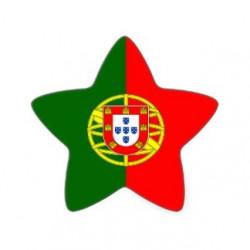Sticker Portugal en forme d'étoile