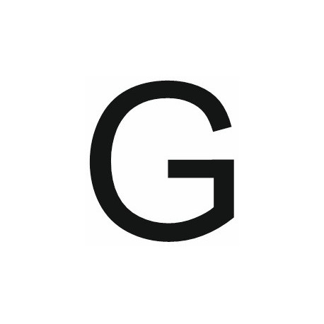 Alfa Stickers >> Sticker lettre G pour coller sur votre voiture, mur, vitrine ! Etiquette & Autocollant
