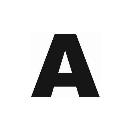 lettre a Sticker lettre A pour coller sur votre voiture, mur, vitrine  lettre a