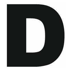 Sticker lettre D