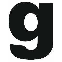 Sticker lettre G gras minuscule