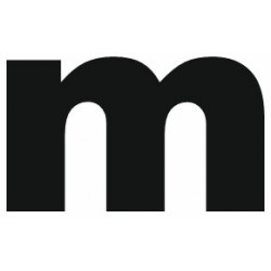 Sticker lettre M gras minuscule