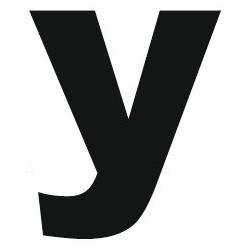 Sticker lettre Y gras