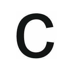 Sticker lettre C