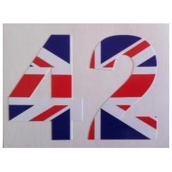 Sticker Chiffre avec drapeau Anglais