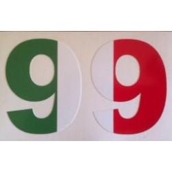Sticker Chiffre avec drapeau Italie