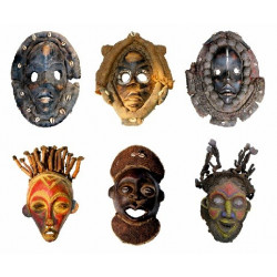 Sticker lot masques africain