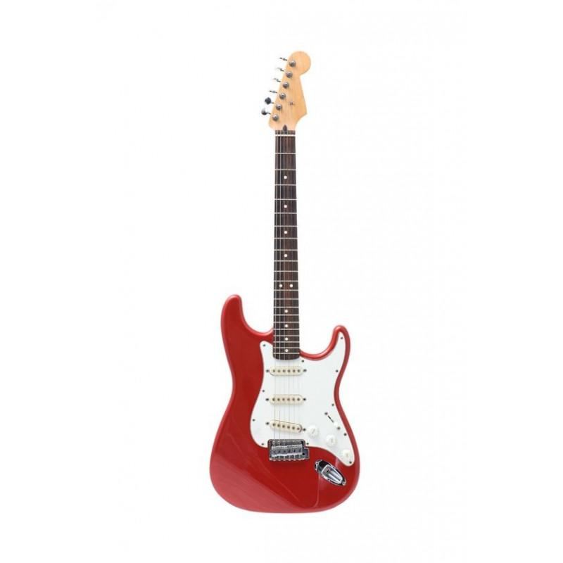 sticker guitare lectrique rouge instruments de musique. Black Bedroom Furniture Sets. Home Design Ideas